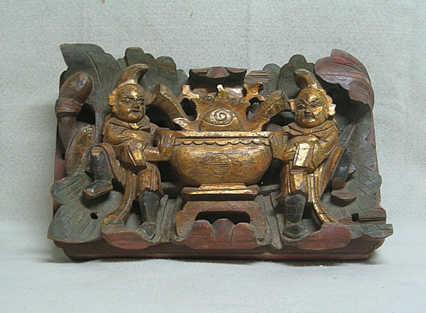 Antique Chinese Wooden Dragon Motif Carvings Writing Table -  www