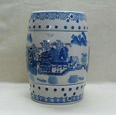Chinese Porcelain Garden Stool Side End Table Landscape Ebay