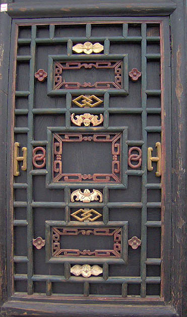 Rare 6-Panel Chinese Antique Carved Wooden Screen Room